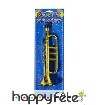 Trompette Kazoo dorée