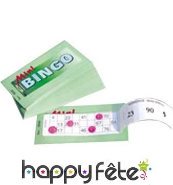 Tickets loterie bingo vert