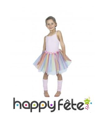 Tutu licorne couleurs pastel pour fille