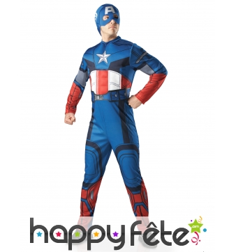 Tenue luxe du Captain America adulte, Avengers