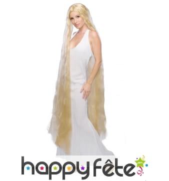 Très longue perruque blonde de princesse