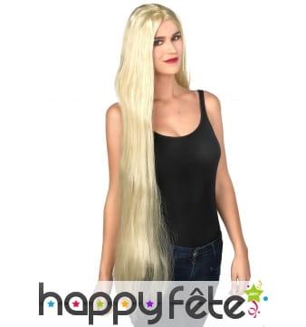 Très longue perruque blonde lisse