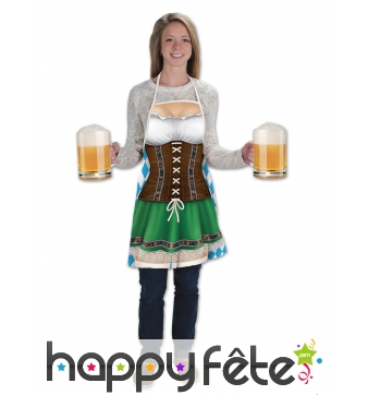Tablier long tenue de bavaroise pour l'Oktoberfest