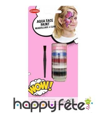 Tour maquillage à l'eau avec accessoires, enfant