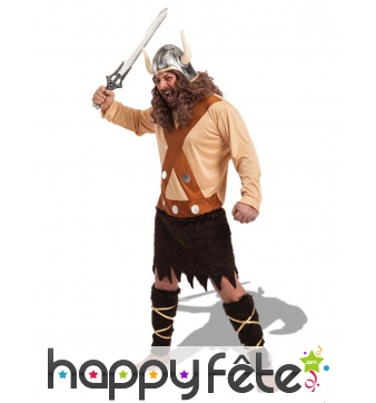 Tunique marron pour homme de redoutable Viking