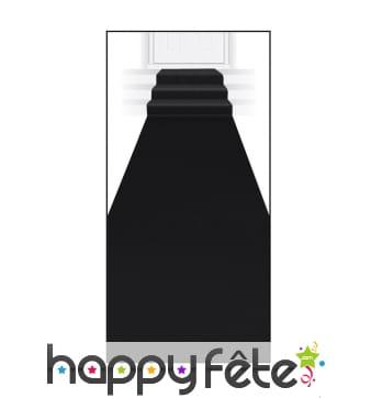 Tapis noir de 60 x 450 cm