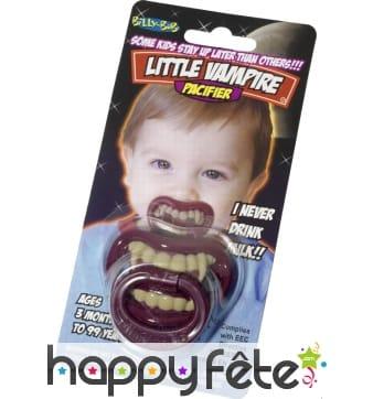 Tetine pour bebe avec dent de vampire