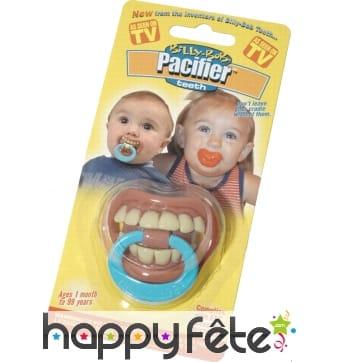 Tetine pour bebe avec dentier