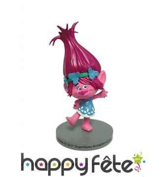 Trolls Poppy décoratif de 7cm pour gâteaux