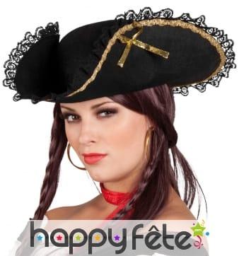 Tricorne pirate femme
