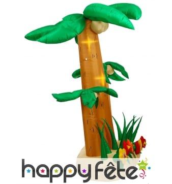 Triple palmier gonflable et lumineux de 240cm