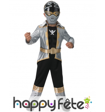 Tenue Power Rangers Silver super mega force