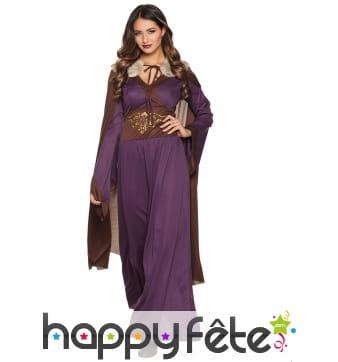 Tenue Renaissance Dame du nord violette