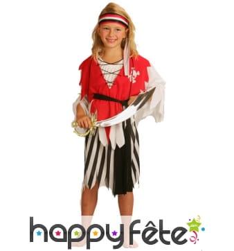 Tenue robe de pirate pour fillette