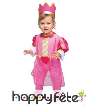 Tenue rose de princesse pour bébé