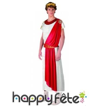 Toge romaine de César avec drapé rouge