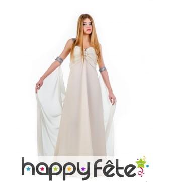 Tenue robe longue et voile Empire blanche femme