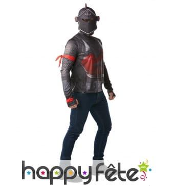 T-shirt Black Knight pour adulte, avec casque