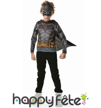 T-shirt cape de Batman pour enfant avec masque