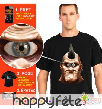 T-shirt cyclope oeil qui bouge