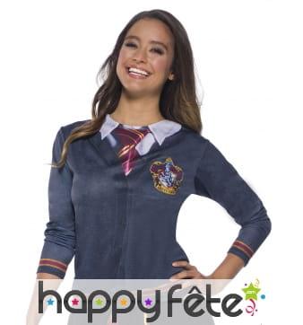 T-shirt d'écolier Gryffondor Harry Potter, femme