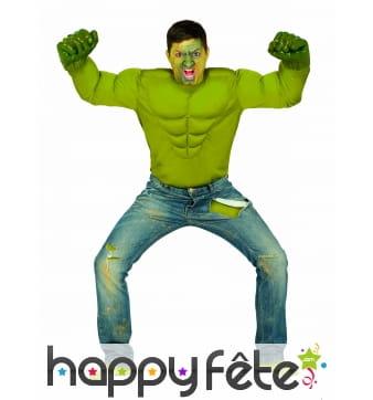 T shirt de Hulk rembourré pour adulte