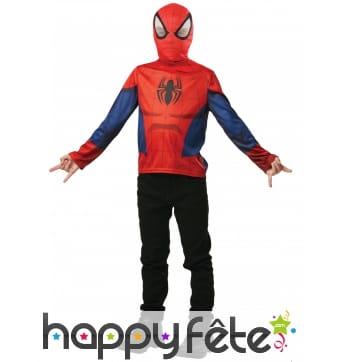T-shirt de Spiderman pour enfant avec cagoule