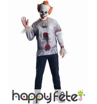 T-shirt du clown Ca pour adulte avec masque