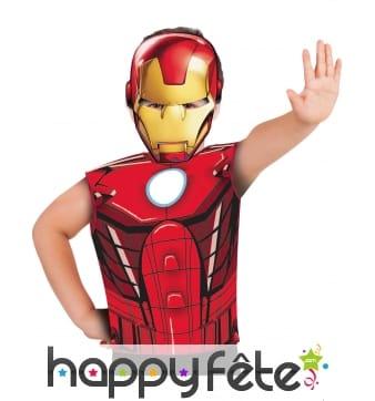 T-shirt et masque d'Iron Man pour enfant