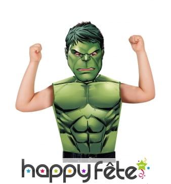 T-shirt et masque de Hulk pour enfant