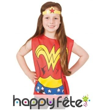 T-shirt et tiare Wonder Woman pour enfant