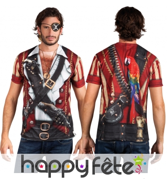 T-shirt imprimé haut de pirate