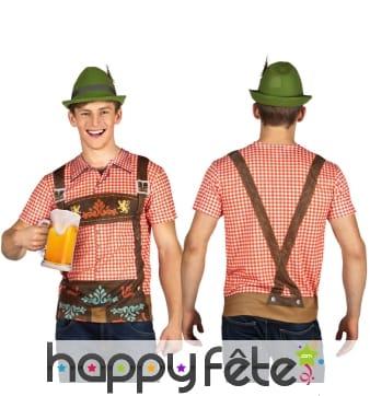 T-shirt imprimé salopette de bavarois