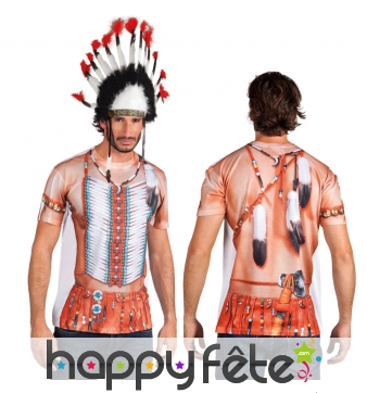 T-shirt imprimé torse d'indien