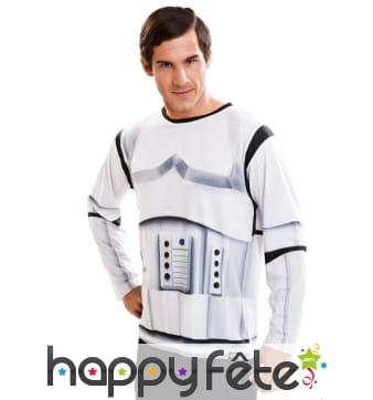 T-shirt manches longues soldat Stormtrooper adulte