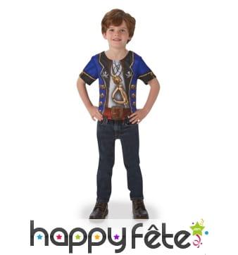 T-shirt pirate photoréaliste pour enfant