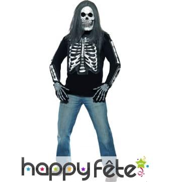 T-shirt squelette homme
