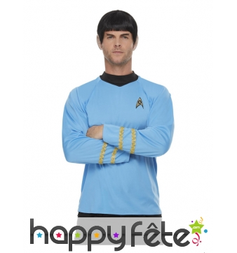 T-shirt star trek bleu pour adulte