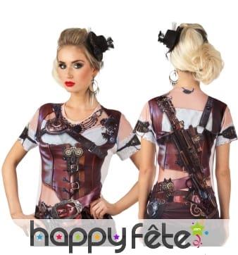T-shirt steampunk photo réaliste