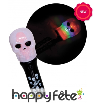 Torche squelette, spinner pour Halloween