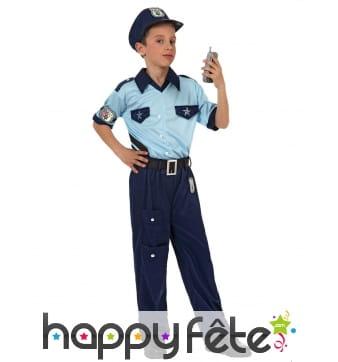 Tenue traditionnelle de policier pour enfant