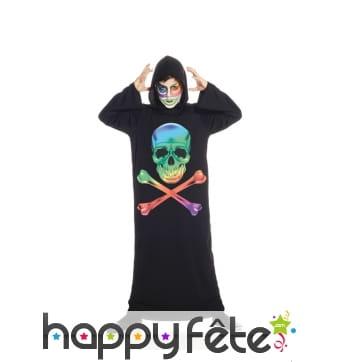 Tunique tête de mort multicolore pour enfant