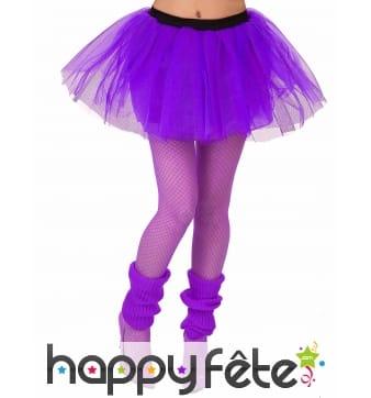 Tutu violet avec élastique noire, pour femme