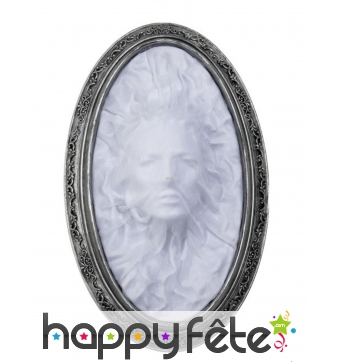 Tableau visage de fantôme féminin lumineux, 41cm