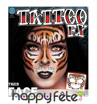 Tatouage visage de tigre