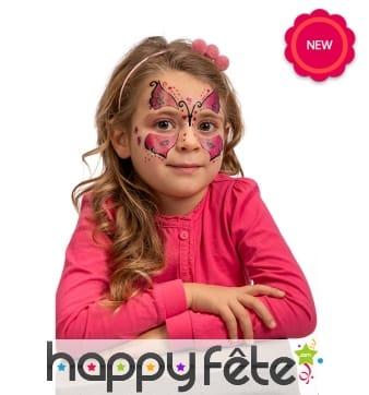 Tatouages visage de papillon pour enfant