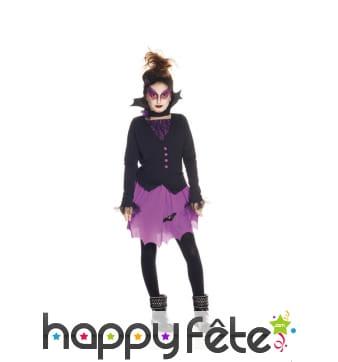 Tenue violette de petite vampiresse