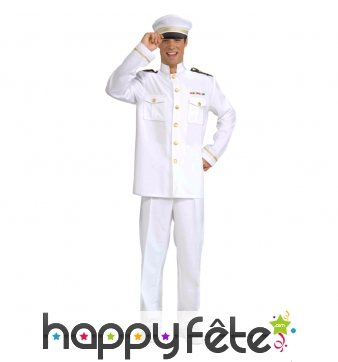 Uniforme blanc de marin capitaine