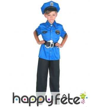 Uniforme bleu de policier pour enfant