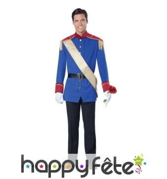 Uniforme de cérémonie bleu pour prince